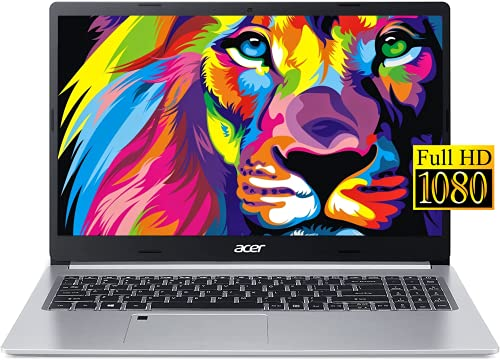 Acer Aspire 5 Slim Laptop, 15.6 inches Full HD Screen, AMD Ryzen 3 3350U Processor, 20GB DDR4 RAM, 256GB SSD, Wi-Fi 6, Backlit Keyboard, Fingerprint Reader, Windows 10 Home, Silver, KKE Mousepad