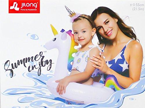 Jilong Schwimmring Einhorn Aufblasbare Schwimmhilfe Schwimmreif Einhorn bunt