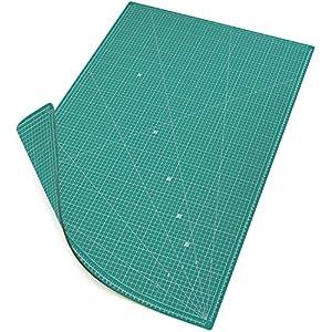 MAXKO base de corte 90 x 60 cm, autocicatrizante, sistema métrico/tabla para cortar/cartapacio / A1 / escuadra 15° - protección para cuchillas y mesas de trabajo