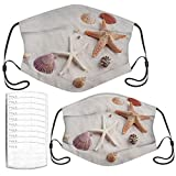 Starfish and Seashell On The Beach Adult Kids Face Mask Set N0-8221