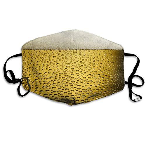 Atmungsaktive Premium Gesichtsschutzhülle,Coole Bier Sprudelnde Goldene Frauen Männer Anti Wind Staubschutz Schutzhülle Für Skifahren Camping Reisesicherheit, Täglicher Gebrauch