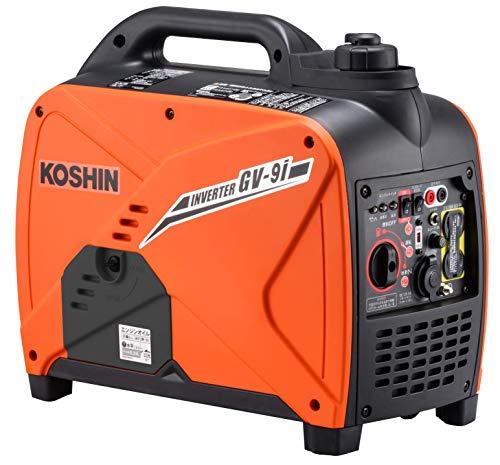 工進(KOSHIN) インバーター 正弦波 発電機 (定格出力0.9kVA) GV-9i 超低騒音型 防災用 災害用 静音 防音型 備蓄 災蓄 非常用 電源 台風 地震 小型 軽量