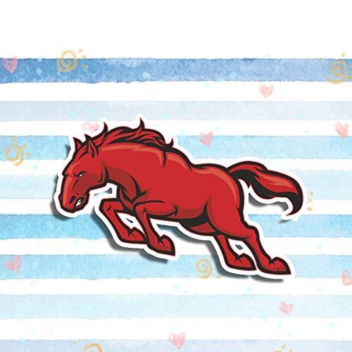 GQQ auto sticker 13Cm X 8Cm schattig dier lopen rood paard auto Stickers Vinyl auto wrap laptop venster Cartoon stickers auto Styling Stijl-1