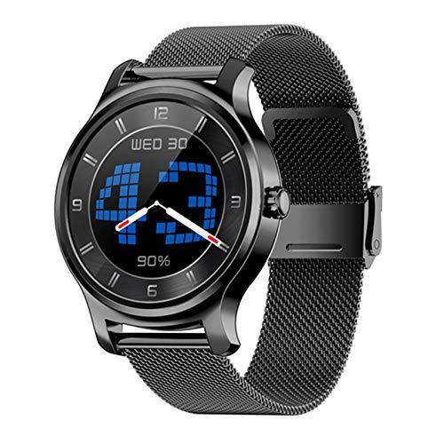 JXFF R2 Smart Watch Monitor De Ritmo Cardíaco Bluetooth Accesorio De Pulsera, Llamado Mensaje Recordatorio Música Fitness Tracker para Hombres Y Mujeres Deportes Smartwatch para Android iOS,A