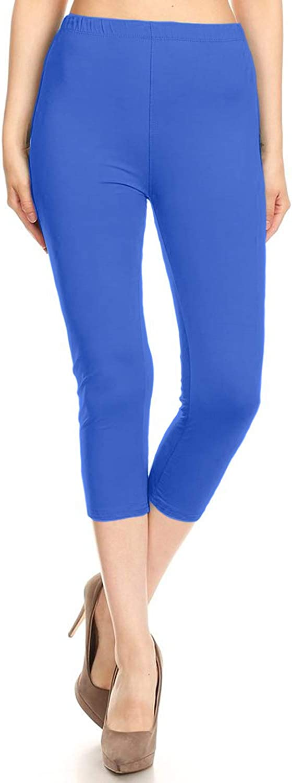 SOLMI Ultra Soft Premium Fabric High Waist Comfortable Capri Length Leggings