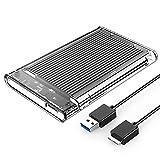 ORICO Caja Externa Disco Duro 2.5'' Carcasa Disco Duro Externo USB 3.0 a SATA 3.0 con UASP para HDD o SSD SATA de 2,5 Pulgadas y 7-9.5 mm de hasta 4TB, sin Herramientas [Negro]
