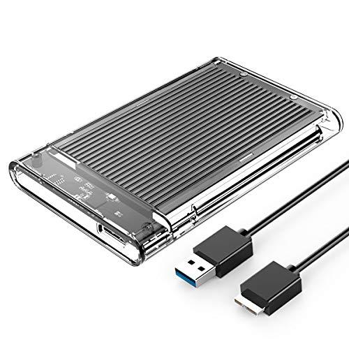 ORICO - Caja de disco duro USB 3.0 para SSD HDD 2,5 pulgadas de SATA III (almohadilla de aluminio para mayor disipación del calor) - Compatible con Windows, Mac, Linux, PS4, Smart TV y más