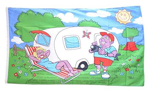 Vaandel/vlag camping caravan gratis stickers, Flaggenfritze® Hissflagge 90 x 150 cm