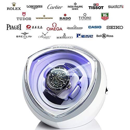 LNLN Horlogebeweger zwart wit Single voor automatische horloges horlogedoos automatisch te kopen opbergvitrine box acrylglas plaat hoogwaardige zwarte flanellen voering