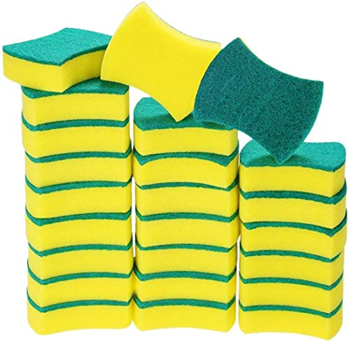 All Goods 24 Pack Kitchen Sponges Heavy Duty Dish Sponges NonScratch Kitchen Sponge for Dishwashing Multiuse Antimicrobial Bathroom amp Car Wash Sponges for Cleaning Eco Friendly Kitchen Sponges