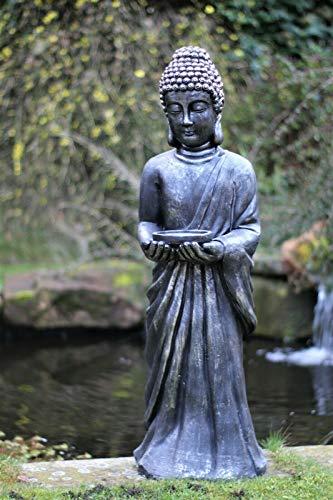 HH Home Hut Garden Buddha Ornament Thai Zen Standing Large Ceramic Outdoor...