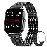 AIMIUVEI Smartwatch, Orologio Fitness Tracker Donna Uomo Smart Watch IP67 da 1,4 Pollici Cardiofrequenzimetro...