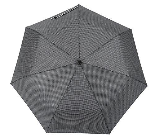 小宮商店 55 自動開閉 耐風晴雨兼用傘 メンズ日傘 グラス骨 チェック柄 (グレー)