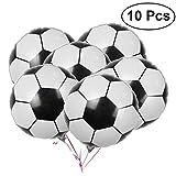 LUOEM Fußball Balloons Aluminiumfolie Ballon Mylar Ballons für Geburtstagsfeier Dekoration 2018 WM Party Pack 10 STÜCKE 18 Zoll