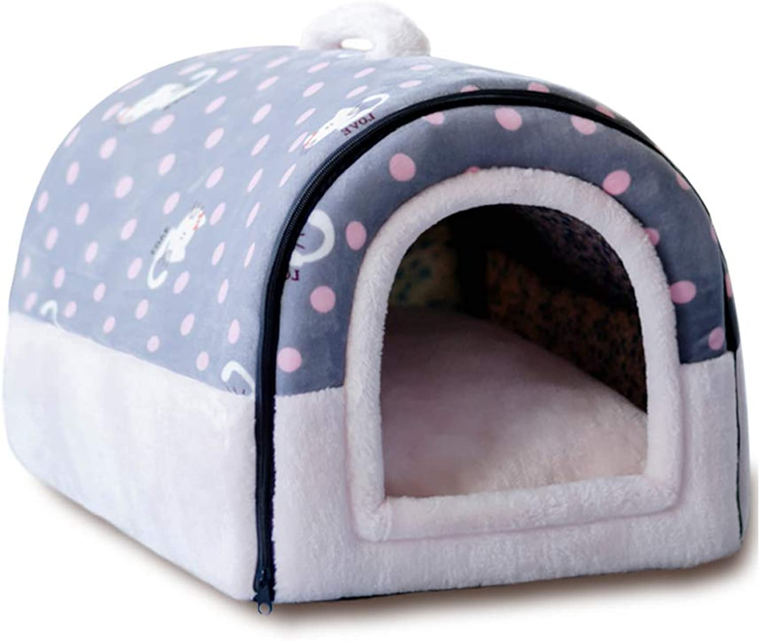 B&F Kennel, 2 In 1 Four Seasons Winter Warm Small DOG Kennel Removable Washable Pet Supplies Cat Litter Cat House (color   G, Size   M)