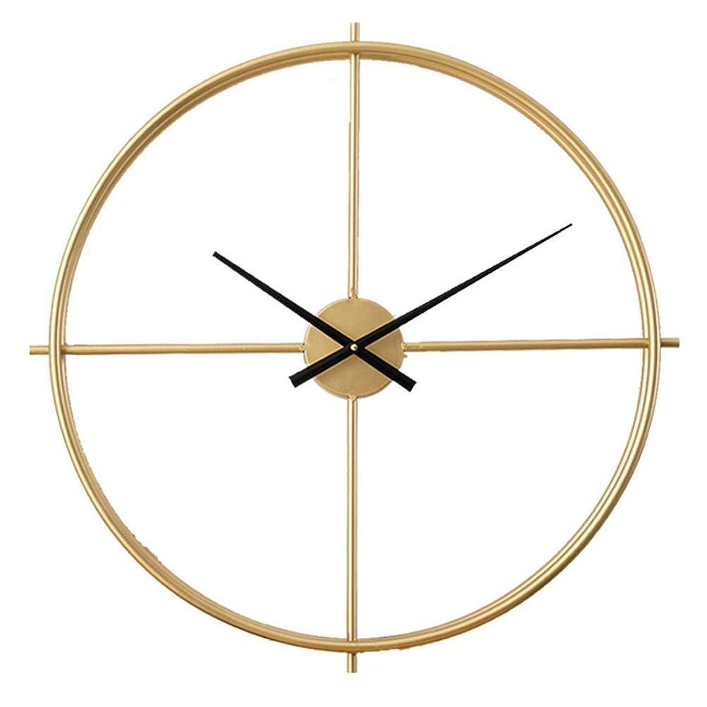 喉頭ウェーハ暗記する壁時計の装飾大、壁時計ノルディックシンプルなゴールデンモダンサイレント時計リビングルームの寝室の装飾金属鉄