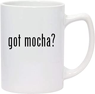 got mocha? - 14oz White Ceramic Statesman Coffee Mug