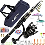 PLUSINNO Fishing Rod and Reel Combos Set,Telescopic Fishing Pole with