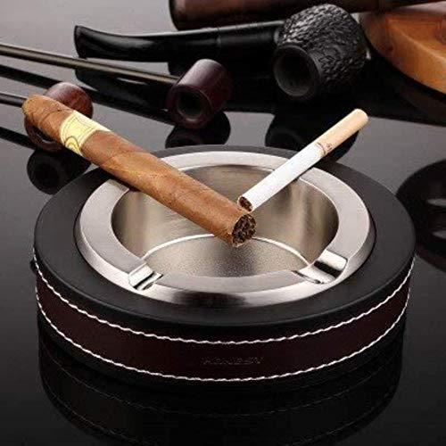 Gabinete Para Mantener La Mesa Para La Oficina En Casa O El Coche Fumar Cenicero Cenicero Del Cigarro Cenicero De La Piel,Plata