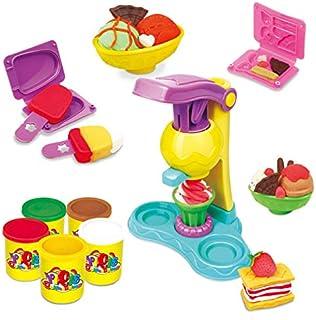 SKEIDO Playdough Polymer Clay Dough Plasticine Ice Cream Mould Play Kit Diy Toy