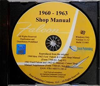 1960 1961 1962 1963 FORD FALCON FACTORY REPAIR SHOP & SERVICE MANUAL CD 60 6162 63