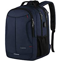 Yorepek 17 Inch Laptop Backpack with USB Charger Port (Blue)