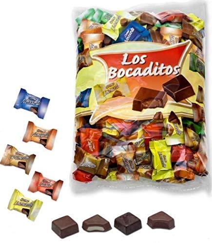 Bombones de chocolate rellenos para celebraciones, mesas dulces , cumpleaños , comuniones... en bolsa de 1 kg.