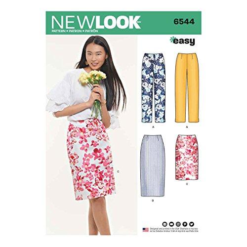 New Look UN6544ANew Look Schnittmuster 6544 Miss Rock in zwei Längen A (38-46-48), Papier weiß