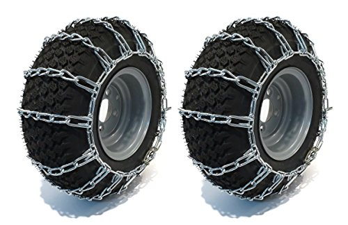 Fantastic Deal! The ROP Shop New Pair 2 Link TIRE Chains 23x10.50-12 for John Deere Lawn Mower Tract...
