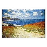 CanvasArts Strandweg zwischen Weizenfeldern bei Pourville -
