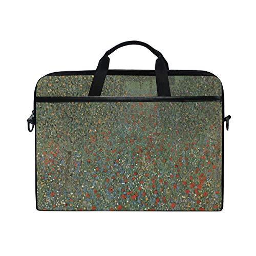 Ahomy 13.3-14 Inch Laptop Bag, Flower Garden By Gustav Klimt Multifunctional Fabric Waterproof Laptop Case Briefcase With Shoulder Strap