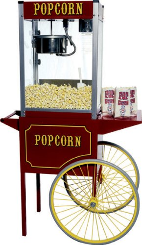 Product Image 2: Paragon – Manufactured Fun Medium Popcorn Cart for 6 and 8-Ounce Poppers (Red)