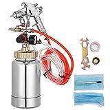 VEVOR Pressure Pot Tank 2L Pressure Pot Paint Sprayer 2 Quar Paint Pressure Pot 1.5mm Nozzle Paint Tank with Gun and Hose Paint(2Qt 1.5mm)