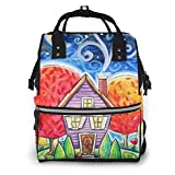 Wickeltasche Rucksack Diaper Bag Backpack Room Under The Stars Multifunction Large Capacity Travel Back Pack Baby Nappy Bags Organizer Waterproof and Durable