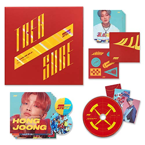 ATEEZ 3rd Mini Album - Treasure EP.3 : One To All [ ILLUSION Ver. ] CD + Photo Booklet + Sticker + Folding Poster + Postcards + Photocards + FREE GIFT(New)