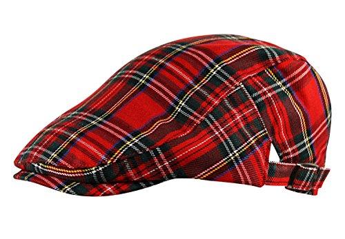 Itzu - Casquette souple - - À carreaux Homme taille unique - Rouge - Rouge - Taille unique
