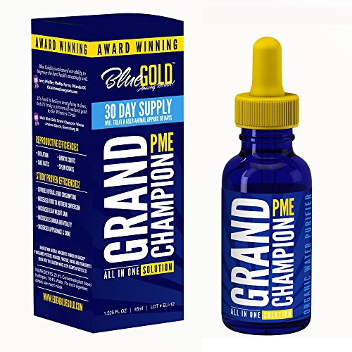 Blue Gold Grand Champion 30 Day Pet Supplement Study Proven Against Leading Pet Antibiotic. Preventative Pet Dewormer. Increase Pet Health Immune Energy Appetite/Water Intake. Pet Vitamin Fix BioFilm.