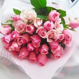 花with-heartいい夫婦の日、誕生日、記念日、お祝いにピンク20本の国産大輪薔薇の花束