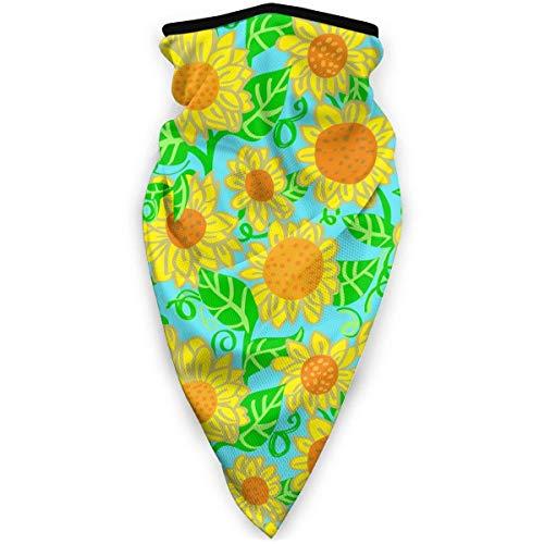 July zonnebloem schilderij bloem geel blauw windjack sjaal stofdicht wasbaar bivakmuts bandana
