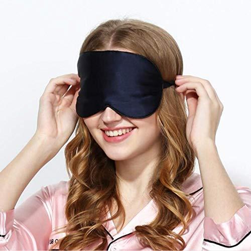 Dormir Máscara Sombreado De Seda De Morera Natural Y Protección Para Los Ojos Oficina Para El Almuerzo Ayuda Para Dormir Gafas Para Dormir-Negro Dos