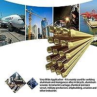 10pcs Brass Welding Wire Electrode 1.6mm*250mm Soldering Rod No Need Solder Powder Wide Application Welding Tool Accessories