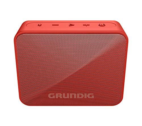 Grundig GBT Solo Red - Bluetooth Lautsprecher, 30 Meter Reichweite, mehr als 20 Std. Spielzeit