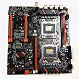 Myya X79 Dual CPU Motherboard, LGA 2011 E-ATX Motherboard, USB3.0 SATA3.0 PCI-E 3.0 16X Dual Graphics Card Slot, PCI-E NVME M.2 SSD Soporta Xeon Processor X79 Dual Graphics Motherboard