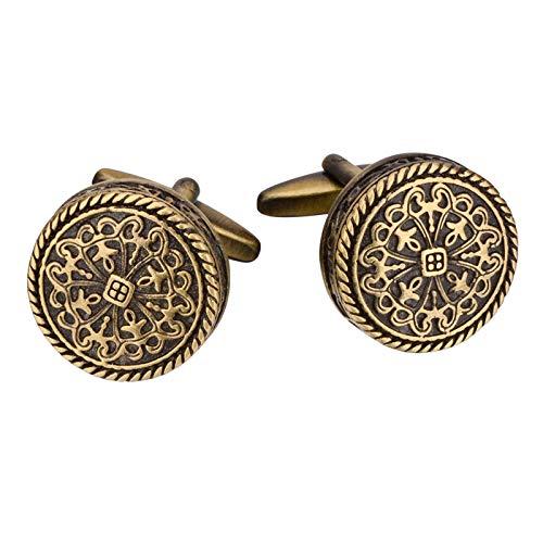 Non-brand 1 Par de Botones de Puño de Chaqueta de Metal Antiguo Vintage Chapado en Bronce de 20 Mm para Trajes