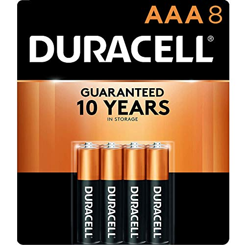 Duracell - CopperTop AAA Alkaline Batteries - long lasting, all-purpose Double A battery for household and business - 8 Count