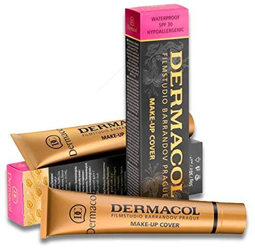 Fond de teint Dermacol - Haute couvrance - Hypoallergénique - Pour tous les types de peau