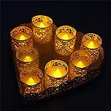 Zenoplige Teelichter batterie 24 Flameless Kerzen inkl. Batterien CR2032, flammenlose LED Teelichter flackernd Kerzen mit Flackereffekt Warmweiß - 6