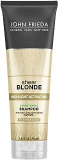 John Frieda Sheer Blonde Highlight Activating Brightening Shampoo Darker Blondes, 8.45 oz (Pack of 2)