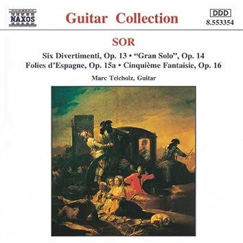 SOR: 6 Divertimenti, Op. 13 / Cinquieme Fantaisie, Op. 16