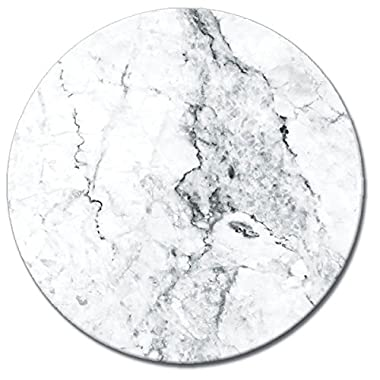 CounterArt 'White Marble' Lazy Susan Glass Serving Plate, 13